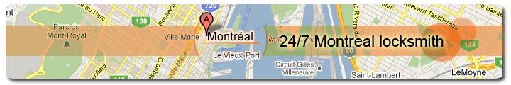 locksmith montreal - Locations