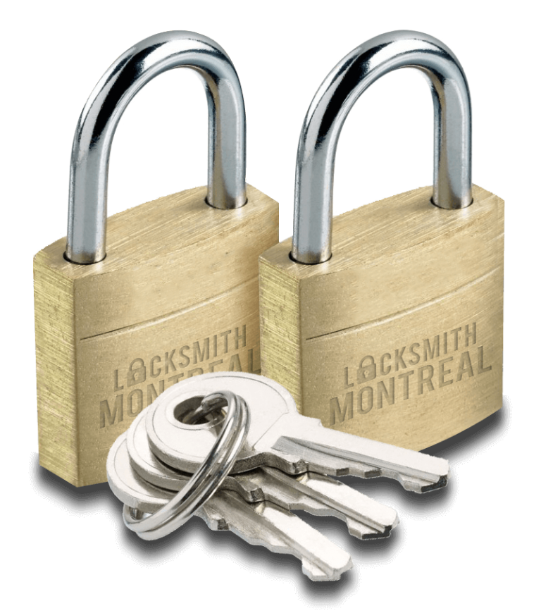 Locksmith Montreal brass pair with keys